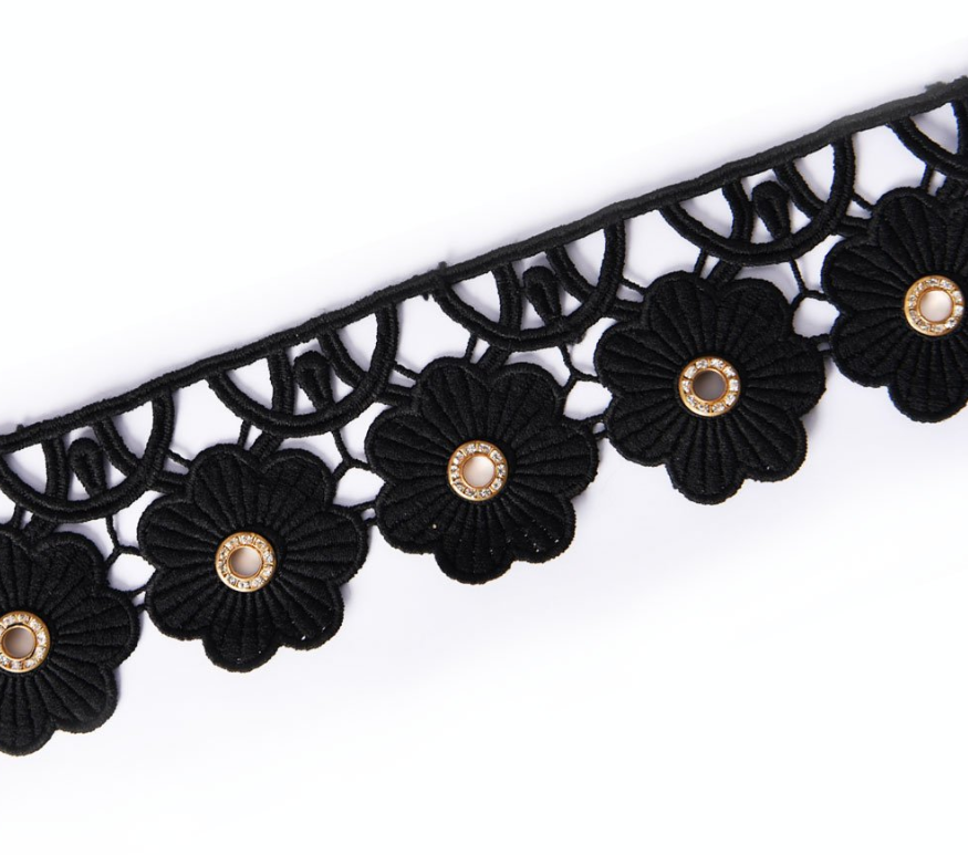 Chemical lace with metal button